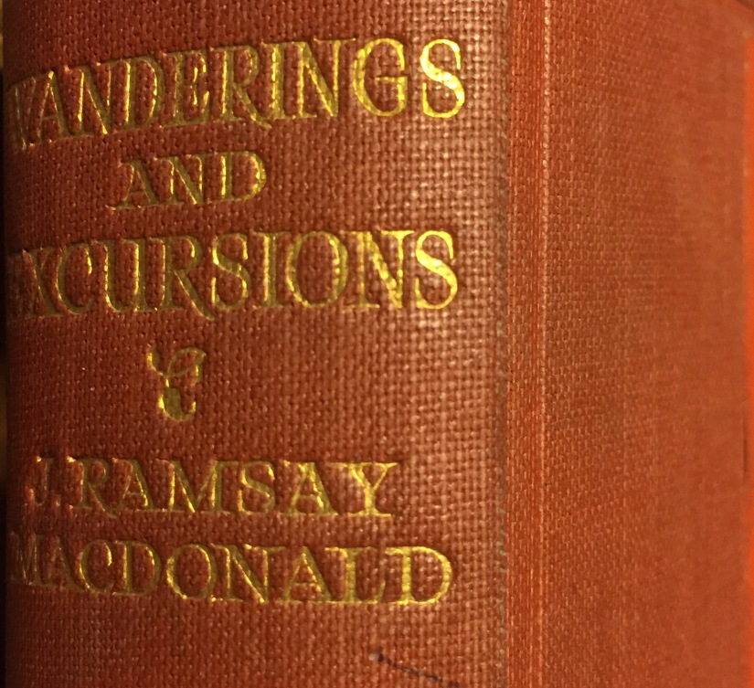 Book: Wanderings & excursions of a Prime Minister